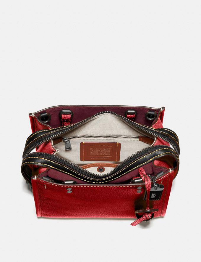 Coach Rogue 25 With Snakeskin Detail Black Copper/1941 Red Women Collection Rogue Alternate View 2
