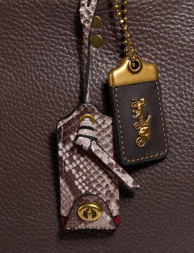 Coach Rogue in Colorblock With Snakeskin Detail Oxblood Multi/Brass Women Bags Shoulder Bags Alternate View 5