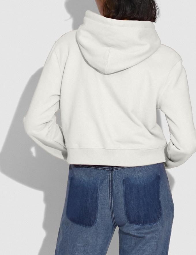 Coach Coach Cropped Sweatshirt White DEFAULT_CATEGORY Alternate View 2