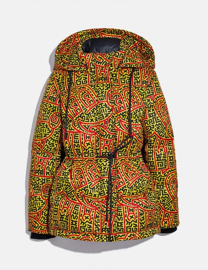 Coach Disney Mickey Mouse X Keith Haring Woven Puffer Multi Women Ready-to-Wear Coats & Jackets