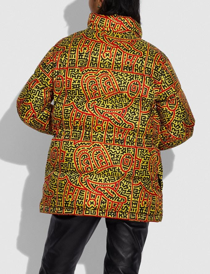 Coach Disney Mickey Mouse X Keith Haring Woven Puffer Multi Women Ready-to-Wear Coats & Jackets Alternate View 3