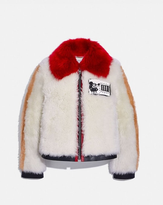 DISNEY MICKEY MOUSE X KEITH HARING SHEARLING JACKET