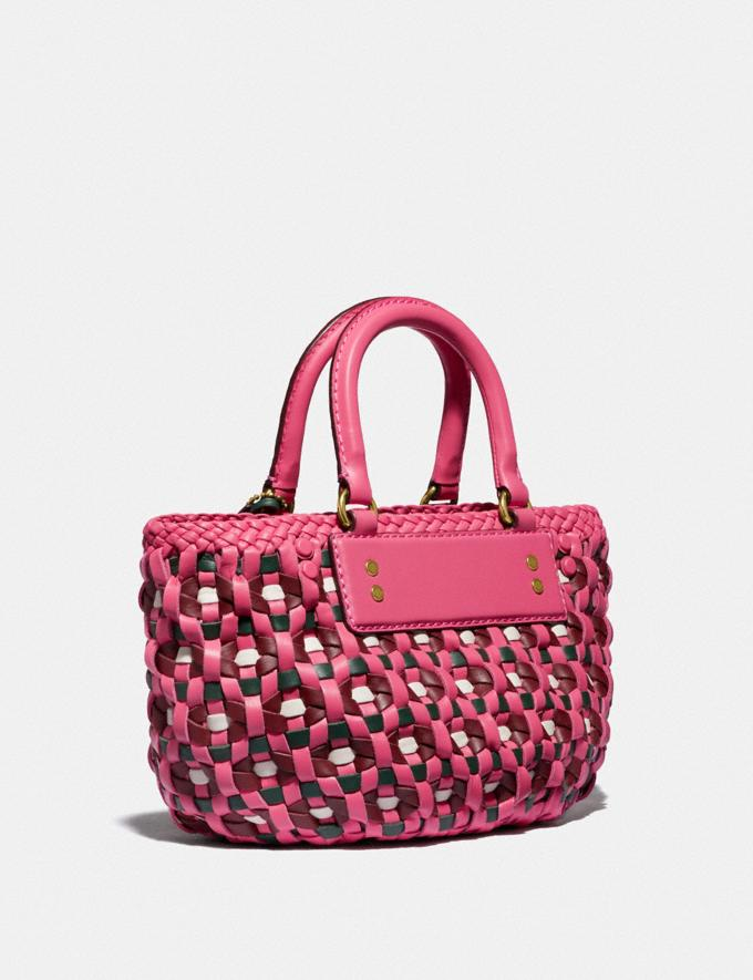 Coach Woven Tote 16 Brass/Confetti Pink Multi New Women's New Arrivals Bags Alternate View 1