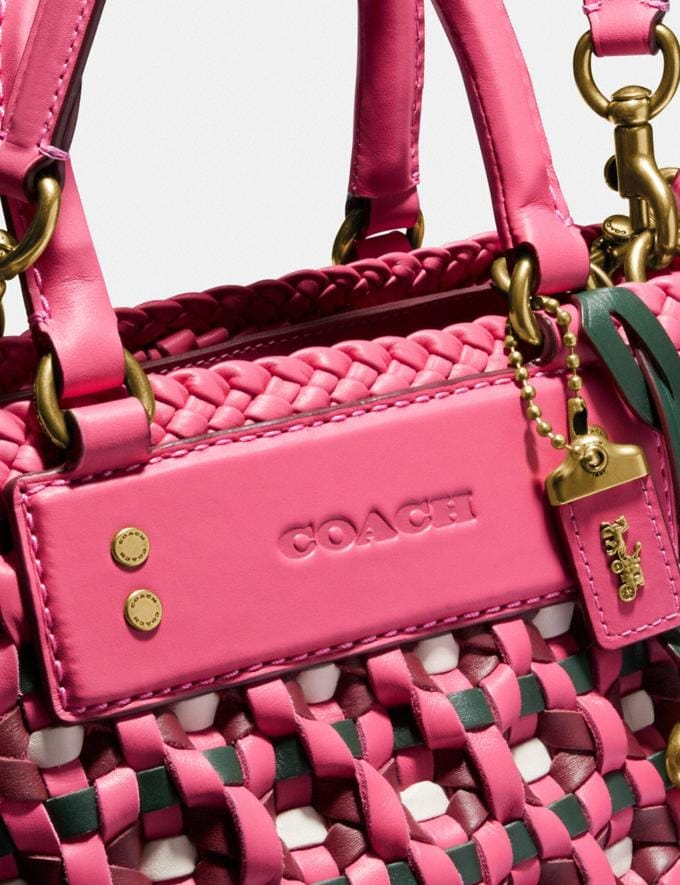 Coach Woven Tote 16 Brass/Confetti Pink Multi New Women's New Arrivals Bags Alternate View 4