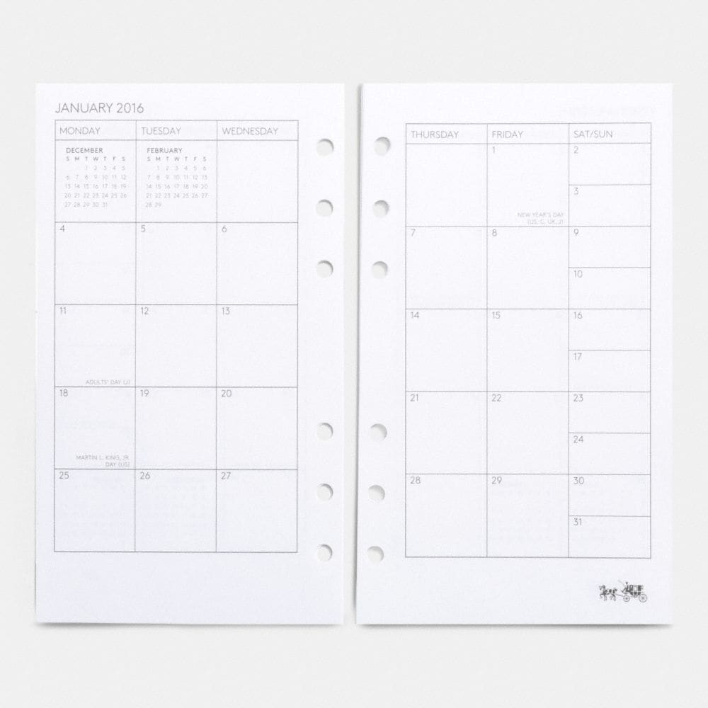 Medium Ring 2 Page Month - Autres affichages A1