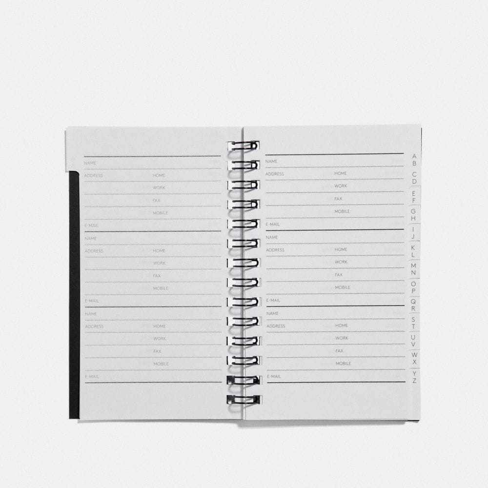 Coach 3x5 Spiral Address Book Refill Alternate View 1