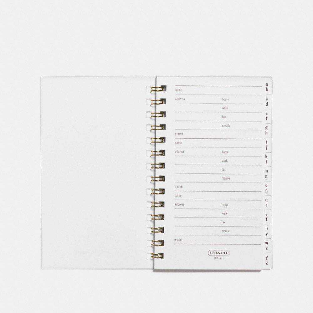 Coach 3x5 Spiral Address Book Refill Alternate View 2