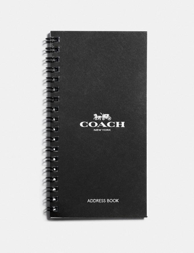 Coach 4x7 Spiral Address Book Refill White Women Accessories Tech & Work