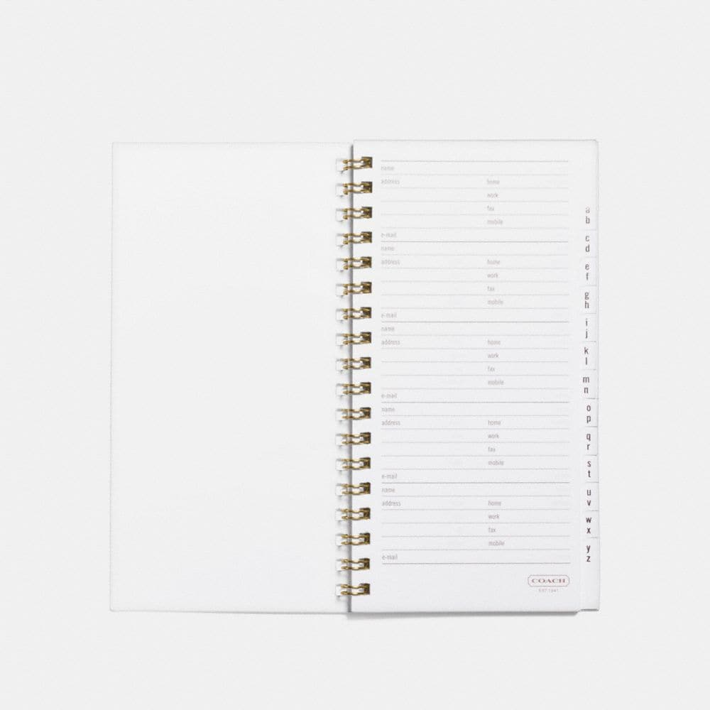 Coach 4x7 Spiral Address Book Refill Alternate View 1