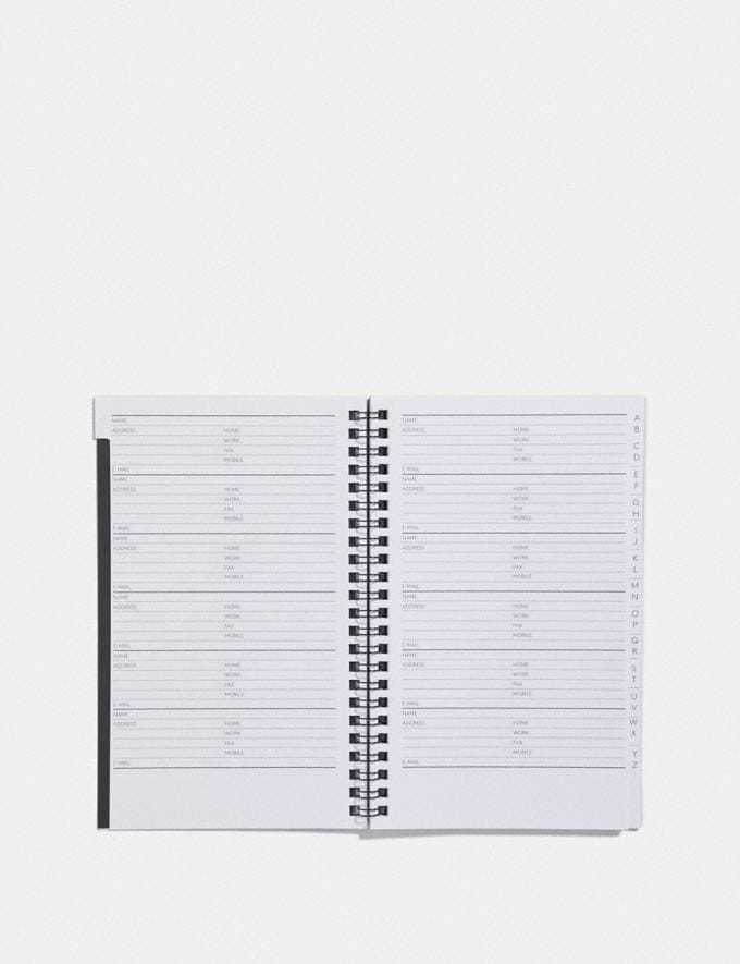 Coach 6x8 Spiral Address Book Refill White Women Accessories Tech & Work Alternate View 1