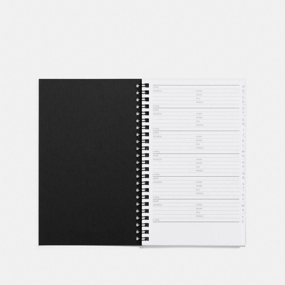 Coach 6x8 Spiral Address Book Refill Alternate View 1