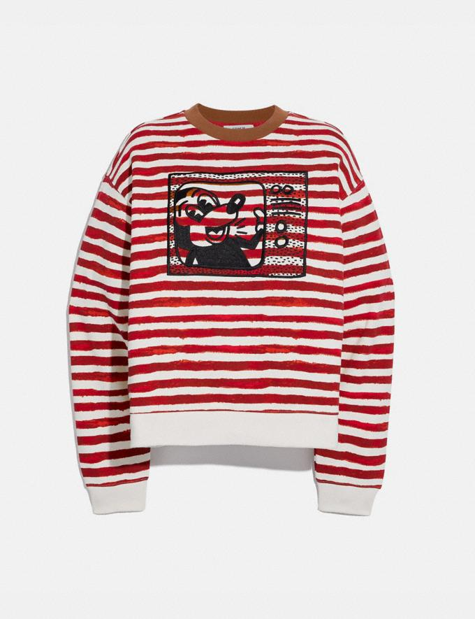 Coach Disney Mickey Mouse X Keith Haring Crewneck Red/White Women Ready-to-Wear Tops & T-shirts