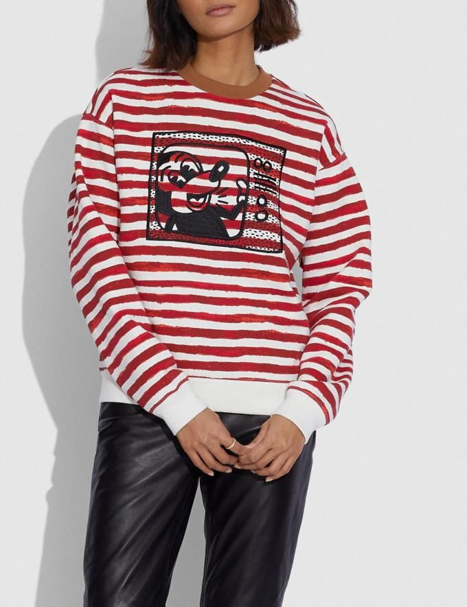 Coach Disney Mickey Mouse X Keith Haring Crewneck Red/White Women Ready-to-Wear Tops & T-shirts Alternate View 1