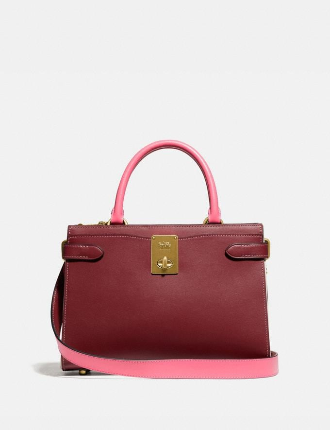 Coach Hutton Carryall in Colorblock Brass/Wine Multi Gifts For Her Under $500