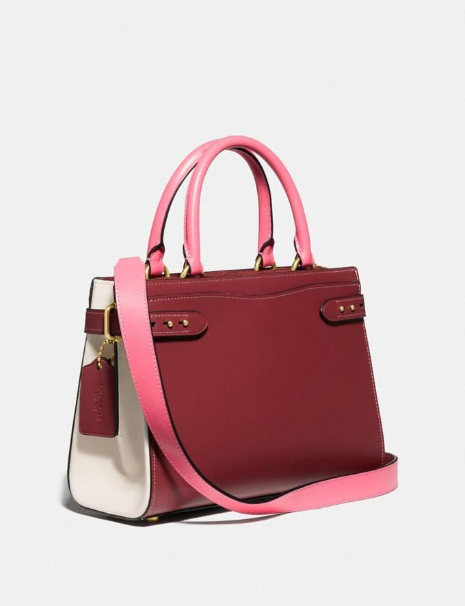 Coach Hutton Carryall in Colorblock Brass/Wine Multi Gifts For Her Under $500 Alternate View 1