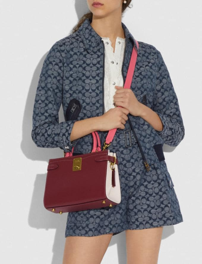 Coach Hutton Carryall in Colorblock Brass/Wine Multi Gifts For Her Under $500 Alternate View 3