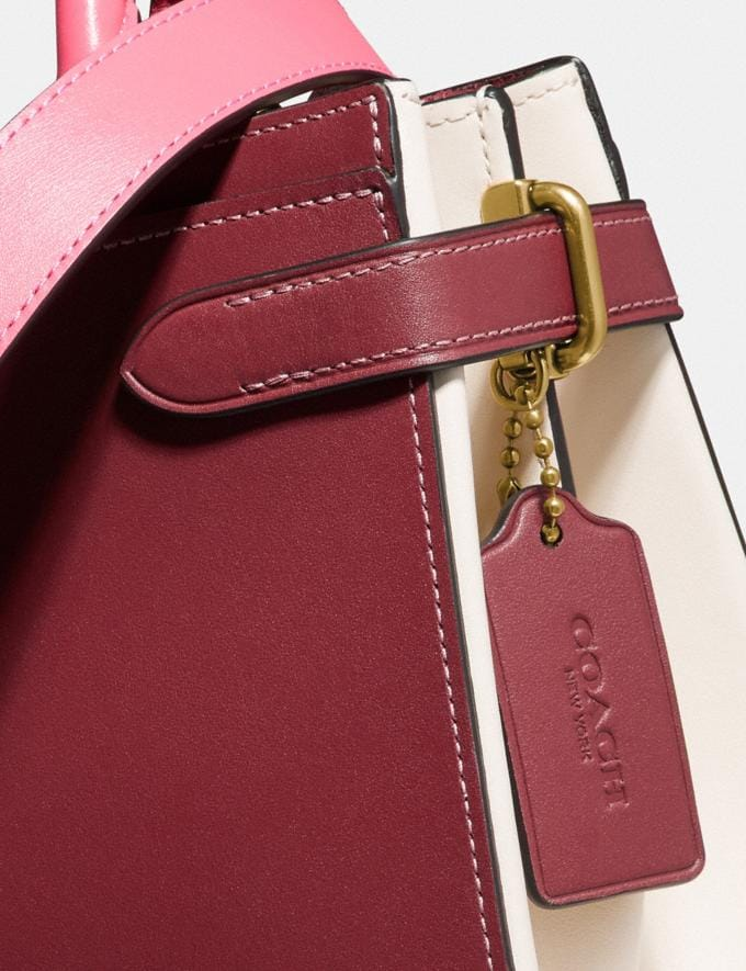 Coach Hutton Carryall in Colorblock Brass/Wine Multi Gifts For Her Under $500 Alternate View 4