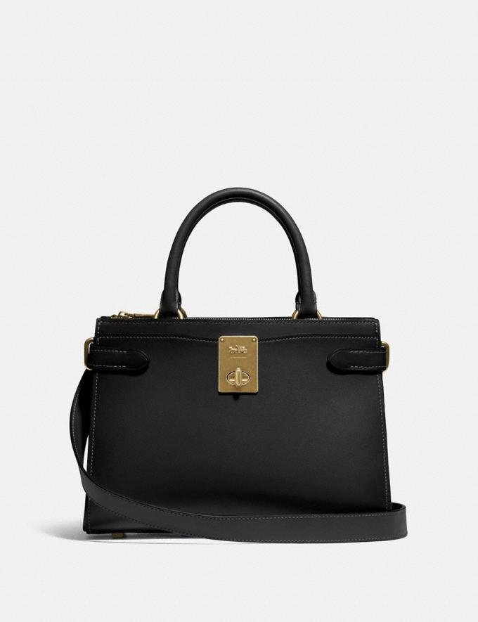 Coach Hutton Carryall Brass/Black New Women's New Arrivals Bags