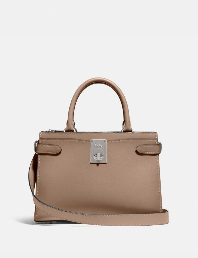 Coach Hutton Carryall Silver/Taupe Women Edits Work