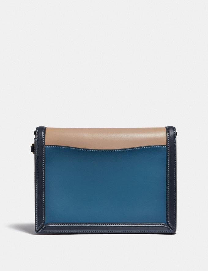 Coach Hutton Schultertasche in Blockfarben B4/See Multi Damen Taschen Schultertaschen Alternative Ansicht 2