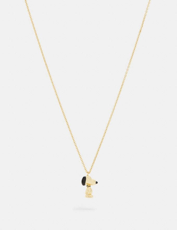 Coach Coach X Peanuts Snoopy Pendant Necklace Gold. DEFAULT_CATEGORY