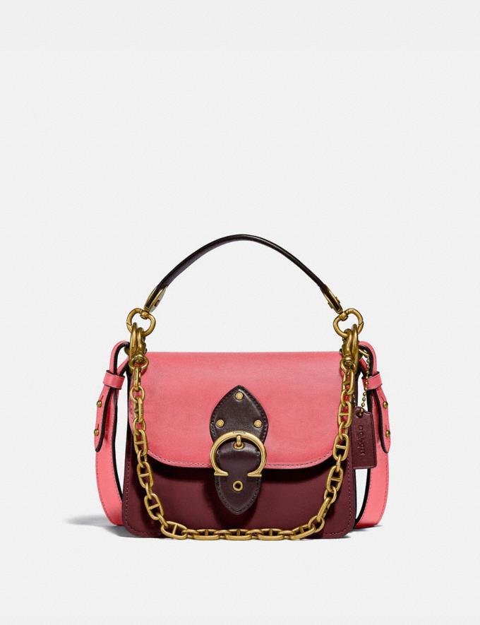 Coach Beat Shoulder Bag 18 in Colorblock B4/Taffy Blk Cherry Mutli New Women's New Arrivals Bags