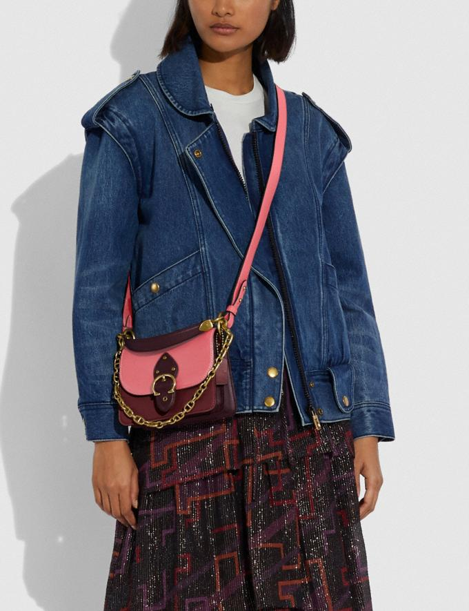 Coach Beat Shoulder Bag 18 in Colorblock B4/Taffy Blk Cherry Mutli New Women's New Arrivals Bags Alternate View 3