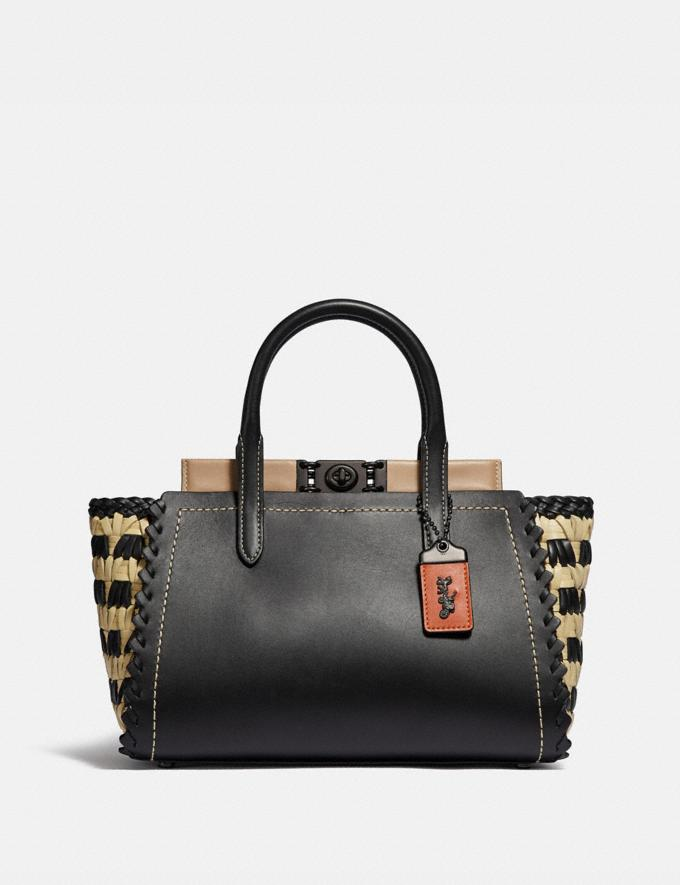 Coach Troupe Carryall With Weaving V5/Black Multi
