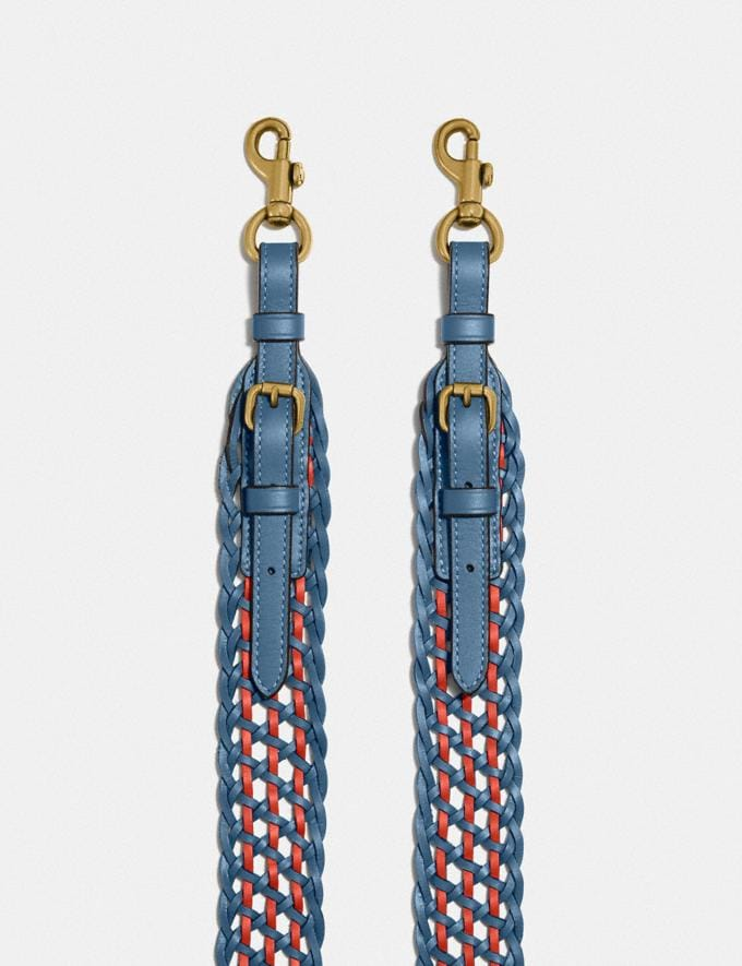 Coach Strap With Weaving B4/Lake Multi SALE For Her Bags Alternate View 1