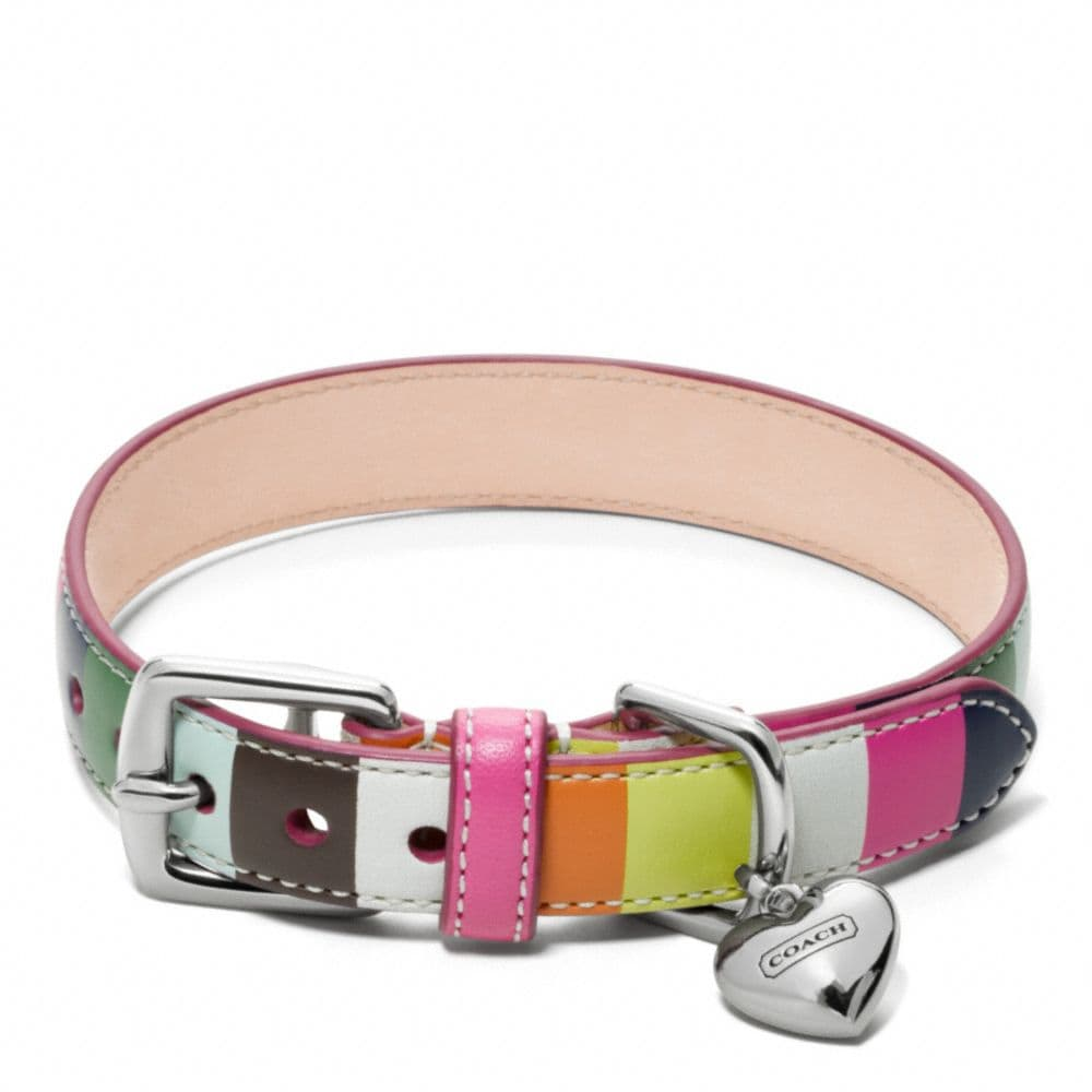 Coach Printed Legacy Stripe Collar