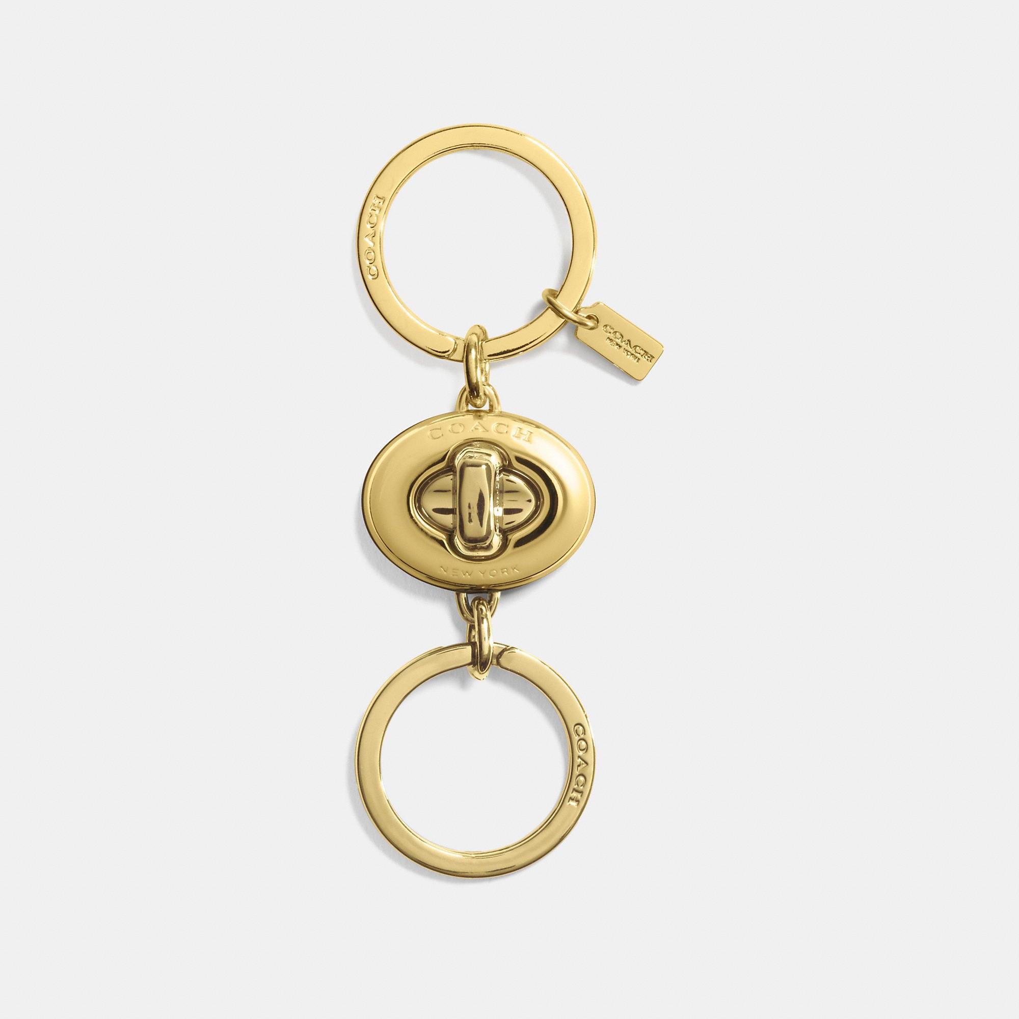 Coach Mini Turnlock Valet Key Ring