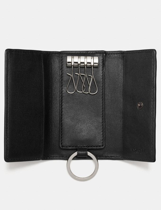 Coach Four Ring Key Case Saddle Men Accessories Bag Charms & Key Rings Alternate View 1