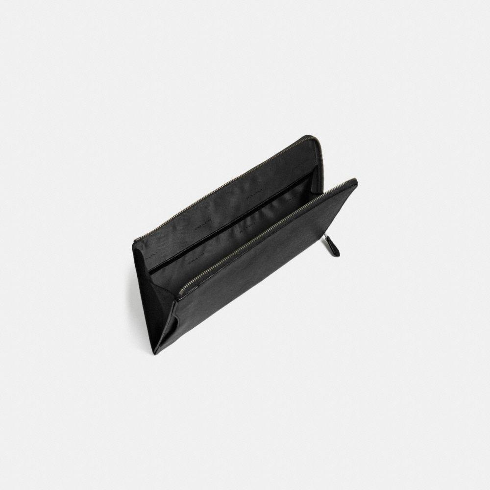 Slim Zip Tablet Case in Crossgrain Leather - Alternate View L1