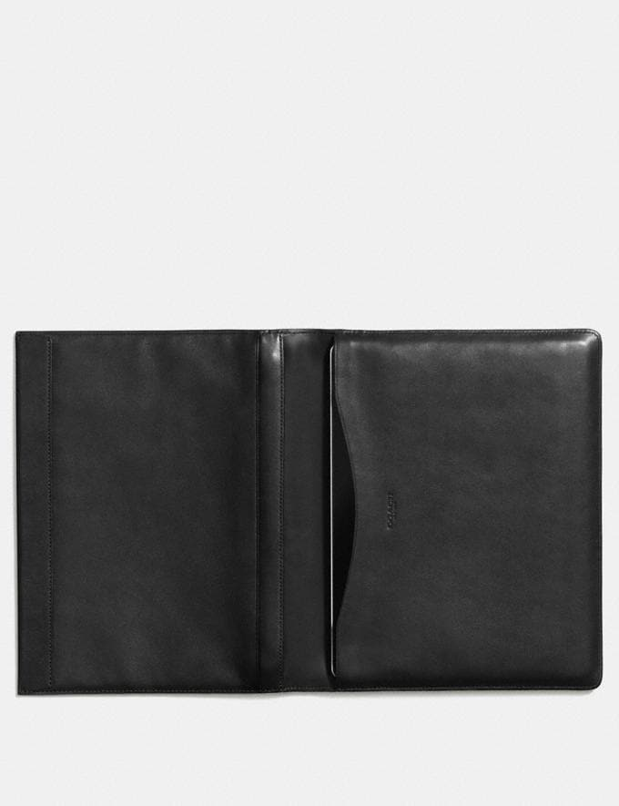 Coach Bifold iPad Case Black Men Accessories Tech Alternate View 1