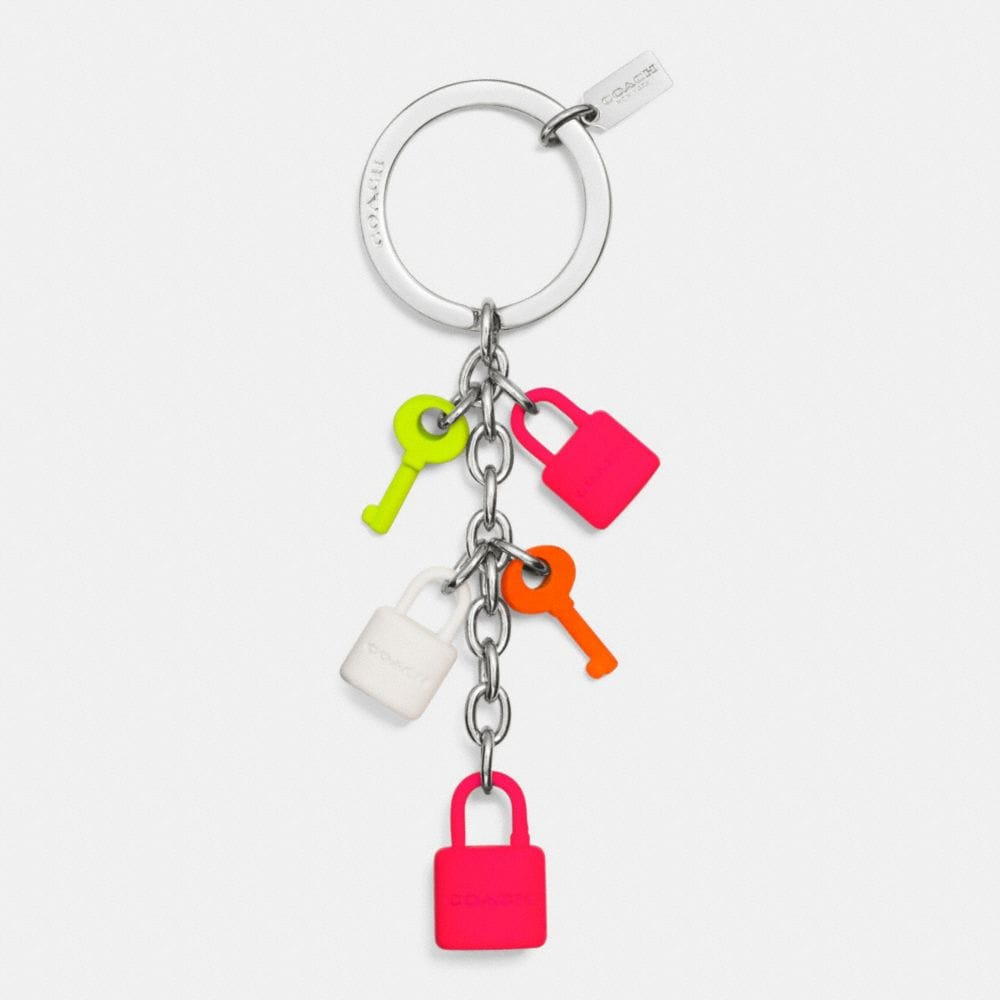 C.O.A.C.H. MULTI LOCK AND KEY CHARM KEY RING