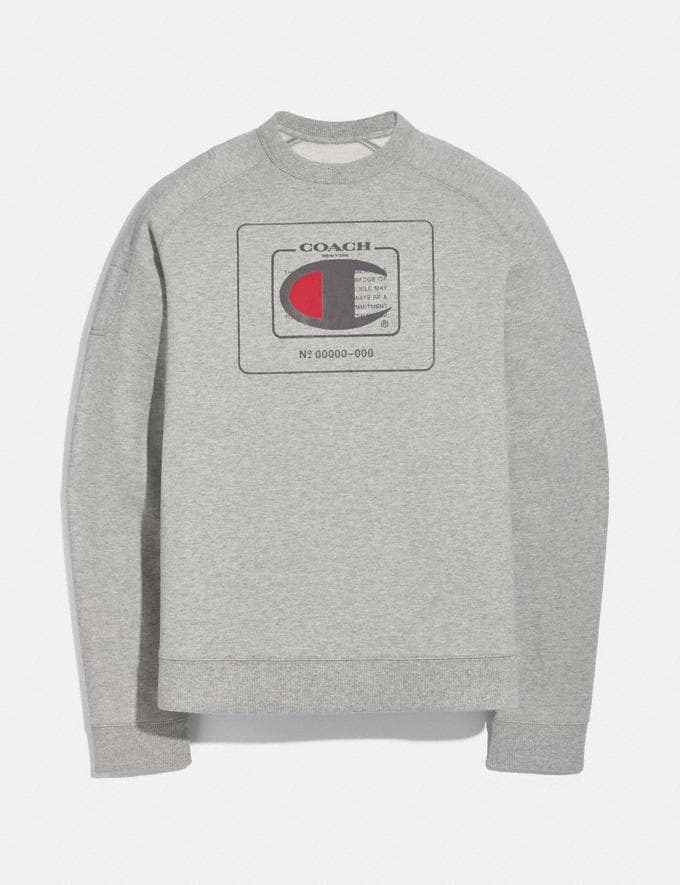 Coach Sweat-Shirt Coach X Champion Gris ChinÉ