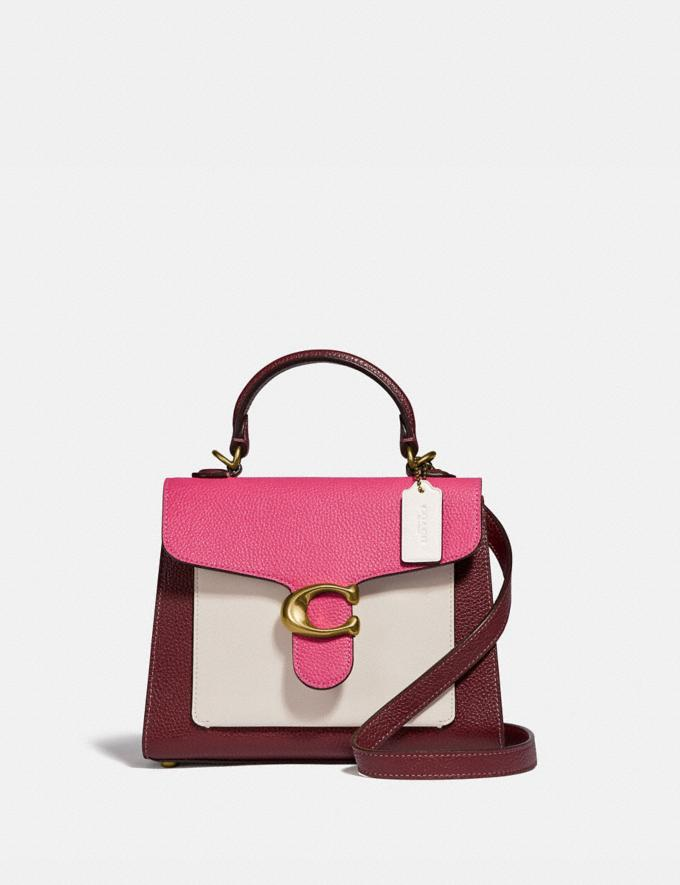 Coach Tabby Top Handle 20 in Colorblock Brass/Confetti Pink Multi PRIVATE SALE For Her Bags