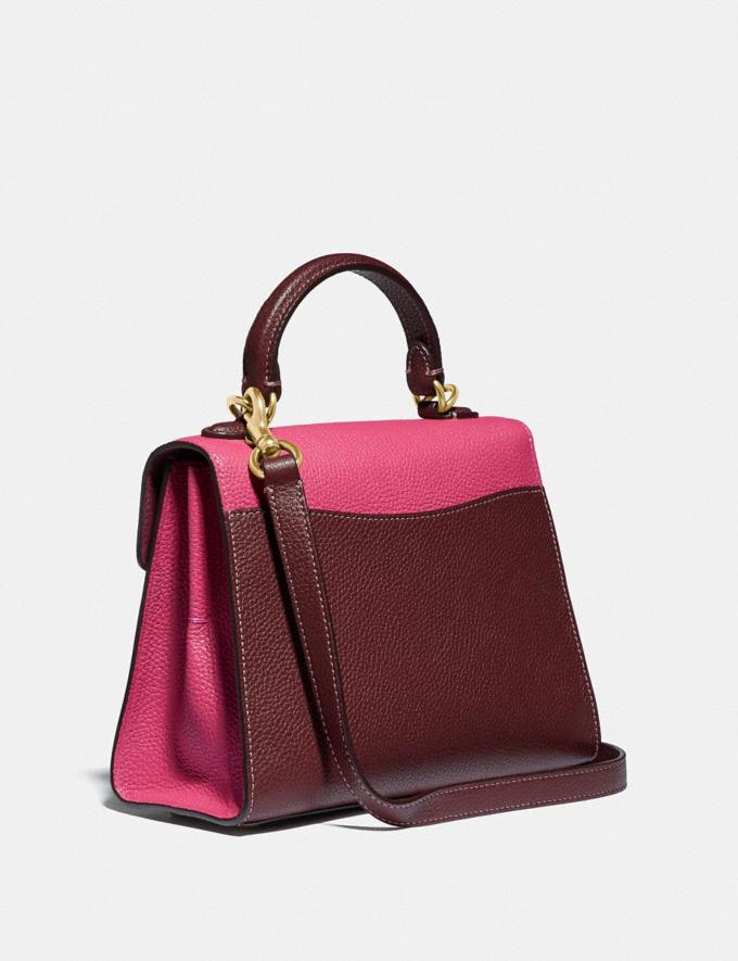 Coach Tabby Top Handle 20 in Colorblock Brass/Confetti Pink Multi PRIVATE SALE For Her Bags Alternate View 1