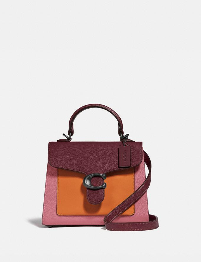Coach Tabby Top Handle 20 in Colorblock V5/Vintage Pink Multi New Women's New Arrivals Bags