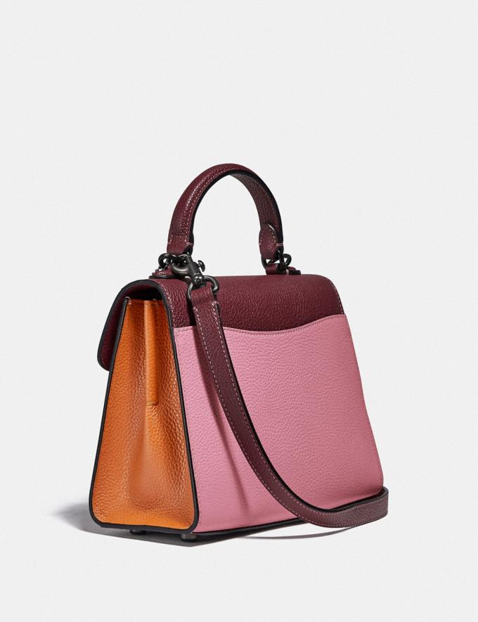 Coach Tabby Top Handle 20 in Colorblock V5/Vintage Pink Multi New Women's New Arrivals Bags Alternate View 1