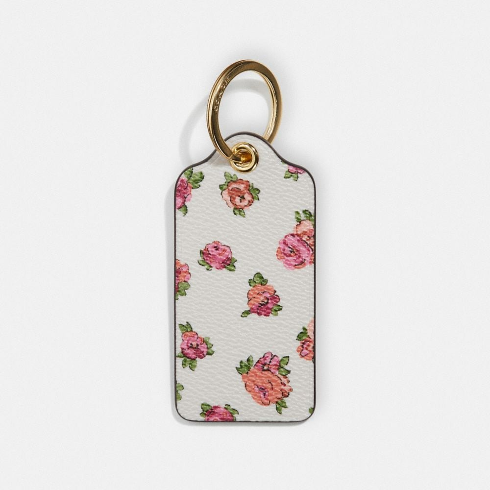 Coach Hangtag With Floral Print
