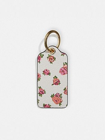 hangtag with floral print