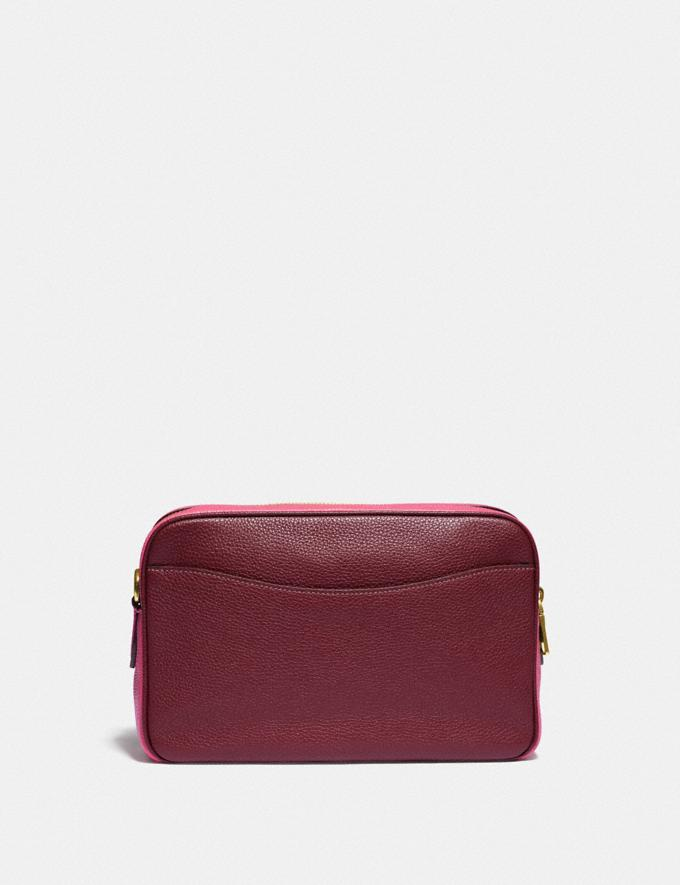 Coach Cassie Camera Bag in Colorblock Brass/Confetti Pink Multi Women Handbags Alternate View 2