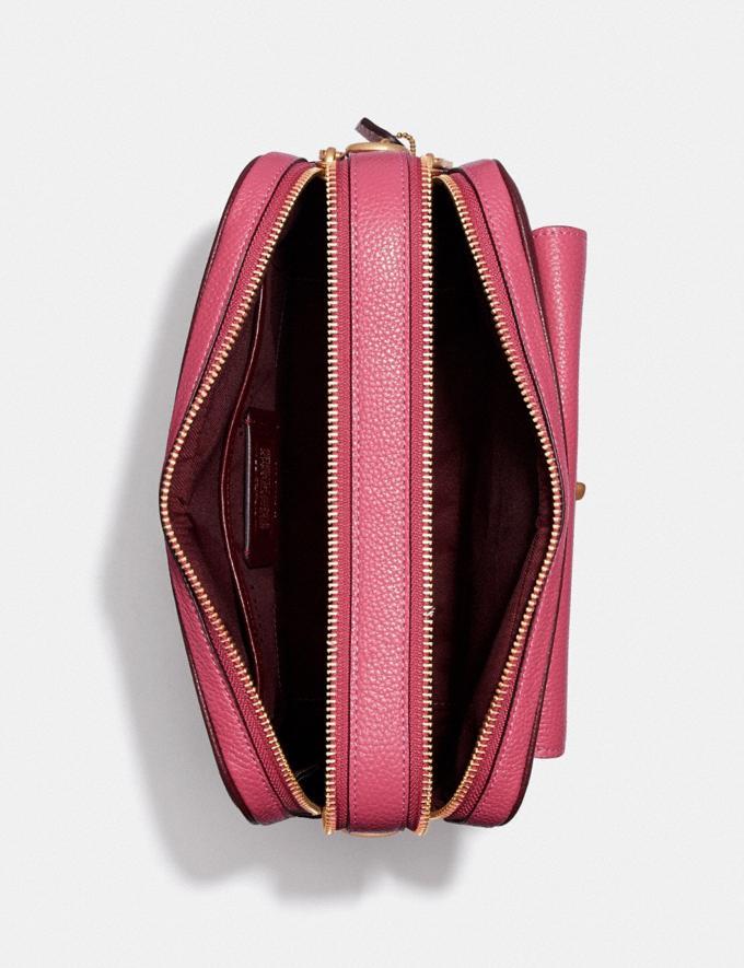 Coach Cassie Camera Bag in Colorblock Brass/Confetti Pink Multi Women Handbags Crossbody Bags Alternate View 3