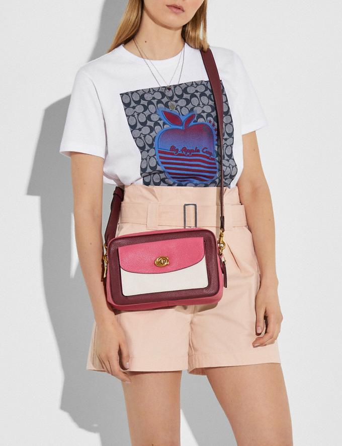 Coach Cassie Camera Bag in Colorblock Brass/Confetti Pink Multi Women Handbags Crossbody Bags Alternate View 4