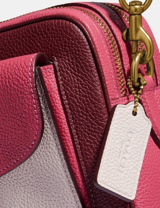 Coach Cassie Camera Bag in Colorblock Brass/Confetti Pink Multi Women Handbags Crossbody Bags Alternate View 5