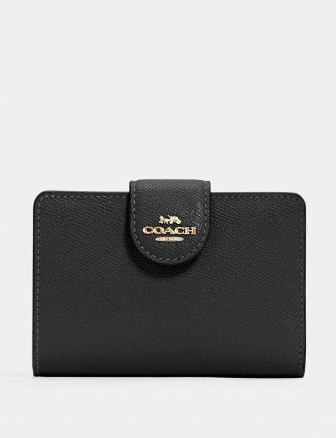 Coach Medium Corner Zip Wallet Im/Black DEFAULT_CATEGORY