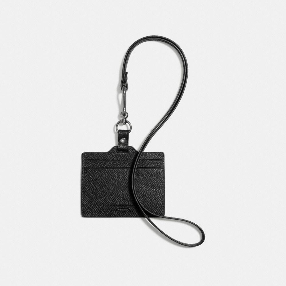 Id Lanyard in Crossgrain Leather