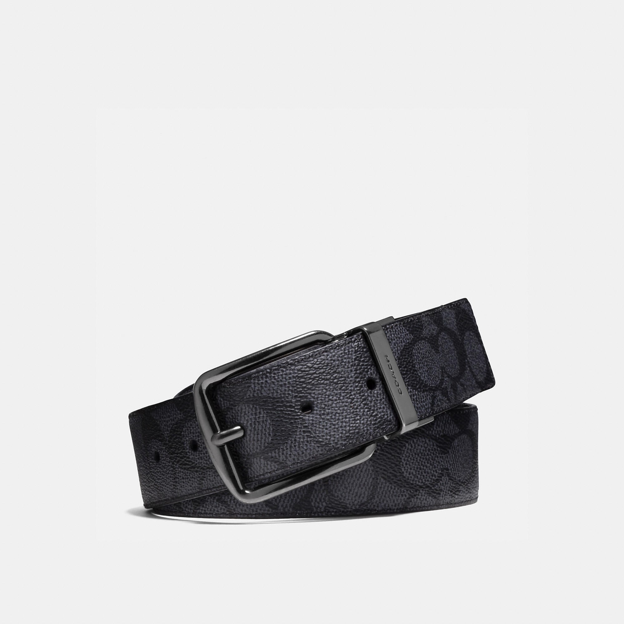 Coach Wide Harness Cut-To-Size Reversible Signature Belt