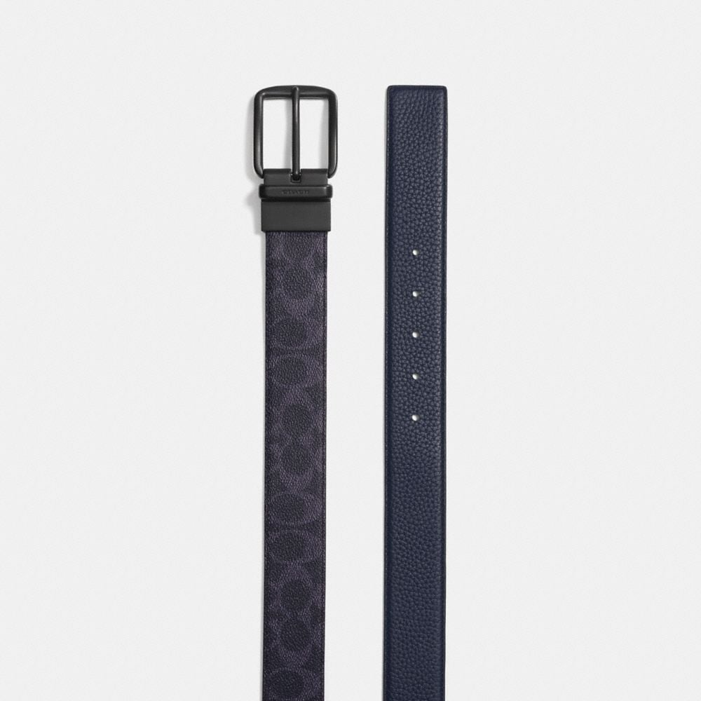 Coach Wide Harness Cut-To-Size Reversible Belt Alternate View 1